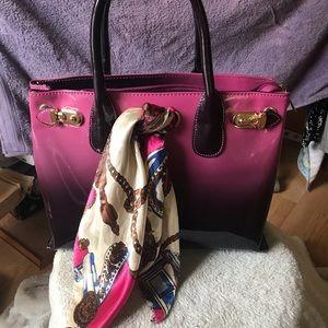 Handbags - Purple purse with Ribbon